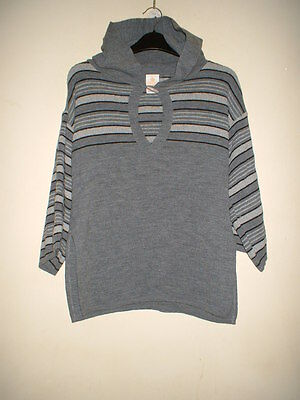 Vintage 1970's Wolsey Grey Hooded Top Size 16
