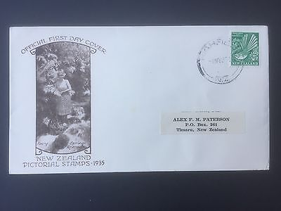 NEW ZEALAND, 1935, First Day Cover, Pictorial Stamps, Posted to Timaru
