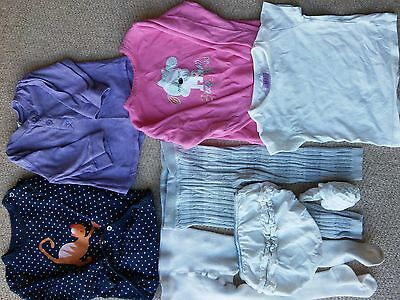 Bundle Of Baby Girl Clothes Age 9-12 Mths