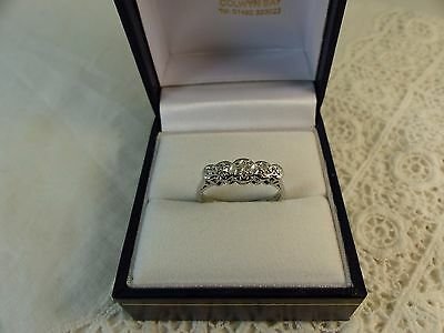 Vintage 18ct White Gold Five Stone Diamond Ring,0.20ct Size M 1/2