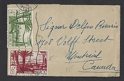 Morocco 1948 Cover Casablanca to Montreal