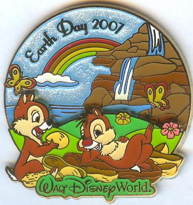 WDW - Earth Day 2007 Chip 'n' Dale Pin LE 3D