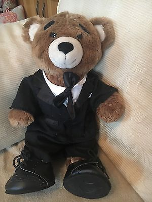 Build A Bear Smart Teddy In A Suit & Shoes