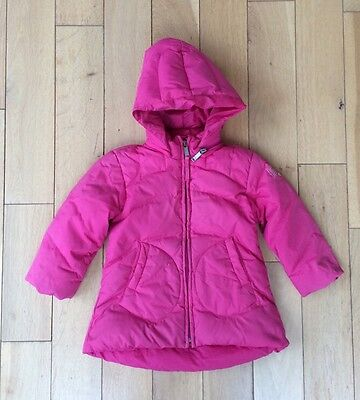 Diesel Girls Coat Hot Pink Down Filled Puffa Hood Age 2 Years
