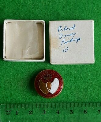 An Enamelled Boxed Blood Donor Buttonhole Badge