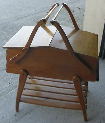 Vintage cantilever sewing box probably 1960s - scandinavian style