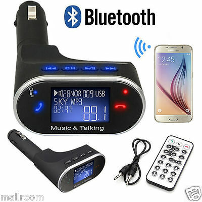 FM Transmitter Auto Bluetooth Freisprechanlage Lade MP3 Modulator AUX PKW SD USB