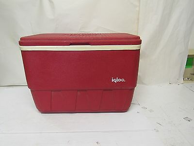 Vintage Igloo Cooler Red Whitew 25 Qt. Container  #220