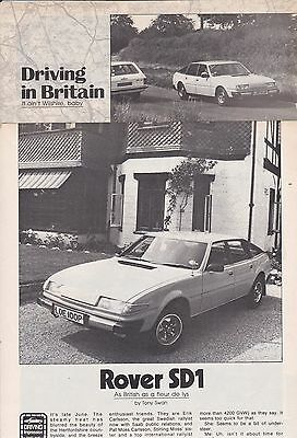 11/76 Rover SD1, USA Car Magazine Road Test Carried out in England