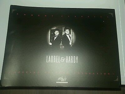 Laurel And Hardy Wh Smith Collectors Postcard Picture Album Circa 1995
