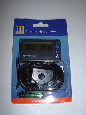 Digital 3 Metre Lead Remote Sensor Temperature Thermometer Humidity Hygrometer