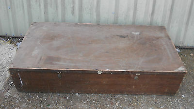 Stunning VINTAGE Large Huge HARRODS TURNERY London STORAGE Box CHEST Wooden Wood