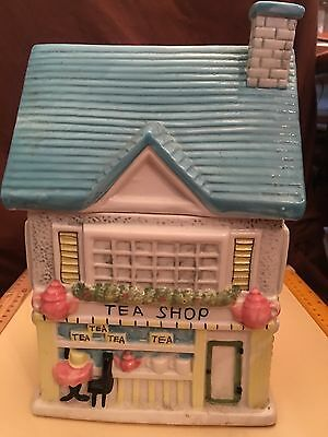Vintage Tea Shop Cookie Jar