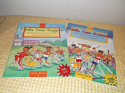 Fiddle Time Joggers Violin Music Bk 1 &CD and Fiddle Time Runners Bk 2 &CD