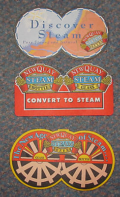 Collection of 3 Newquay Steam Bitter by Devenish advertising beermats 1980's+
