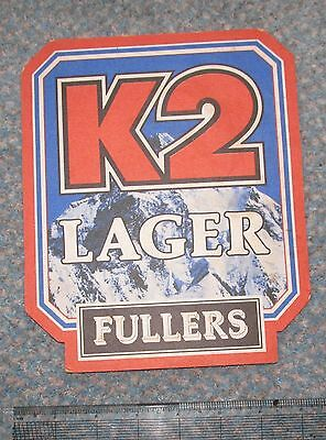 Giant Fullers of Chiswick K2 Lager Beermat 1987 Cat No 56 - 180 x 219mm