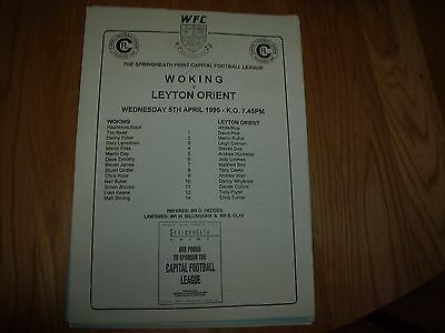woking res v orient res 5/4/1995