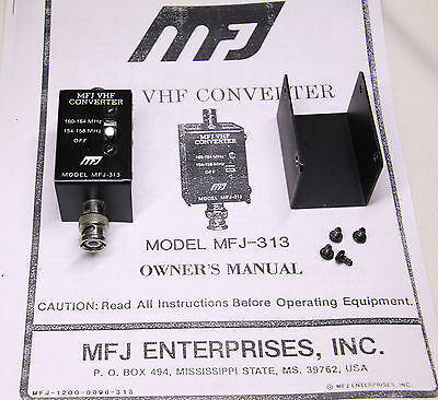 Mfj-313 Vhf Converter Public Service To 2-Meter Ham Works Great! Free Usa Ship!!
