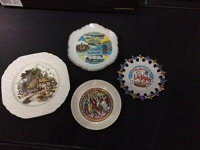 Set Of 4 Vintage Decorative Wall Plates