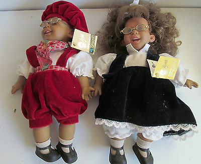 "2 Arias Dolls Boy & Girl Doll Tenerife and Alicanti 11"" 11.5"" Fully Dressed Tags"