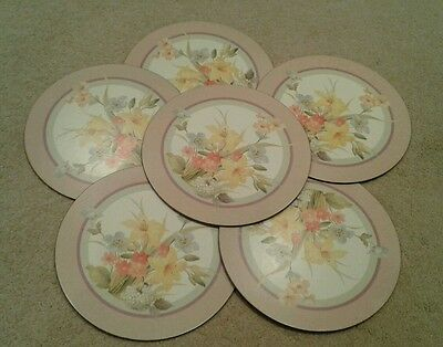 Vintage Pimpernel  Set of 6 Round Floral Placemats - In Box - De Luxe  Finish