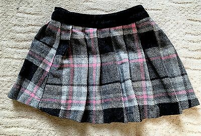 Girls Next Gorgeous Pink & Grey Checked/tartan Skirt Age 5 Worn Once - Xmas 🎅🏻