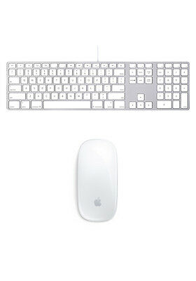 Genuine Apple Ultra Thin Aluminum Wired Keyboard A1243 & Apple Magic Mouse
