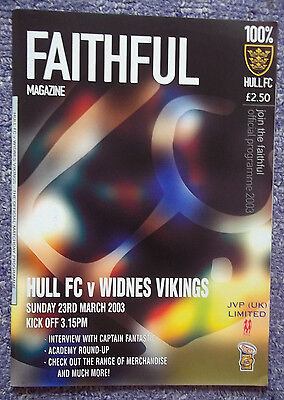 HULL v WIDNES  23/03/03  EXCELLENT