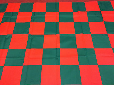 """Chequered Flag Green And Red Large Flag 5ft X 3ft 60"""" x 36"""""""