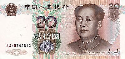 CHINA 20 Yuan (1999) 1st Issue Unc / Mao / Guaranteed Delivery