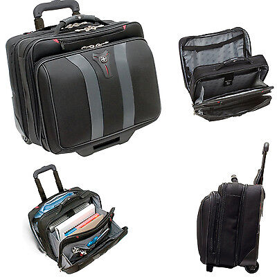 Wenger GRANADA 17 inch Wheeled Laptop Case  Padded Macbook Bag With Compartment