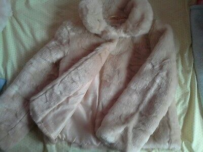 Marks and Spencer girl's faux fur jacket. 9-10 years