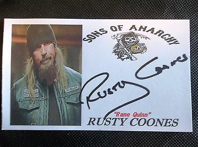 """Sons of Anarchy"" Rusty Coones Autographed 3x5 Index Card"