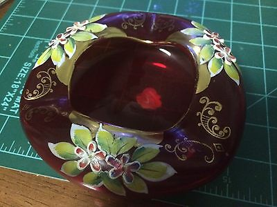 Antique Bohemian Czech Ashtray