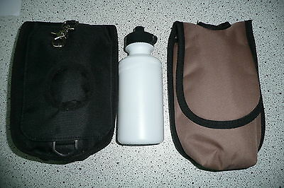 Saddle bag bag water bottle English saddle and Western saddle brown