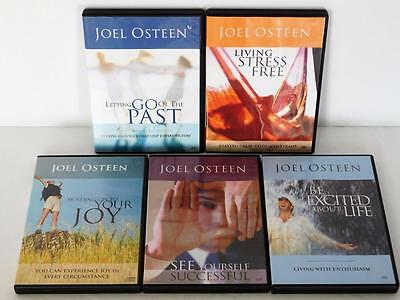 Lot of 5 JOEL OSTEEN Sets 9 CDs Letting Go Of Past/Stress Free/Holding On To Joy