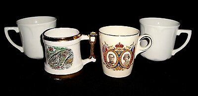 Set of 4 England Mugs (2) J&G Meakin; Britannia; King & Queen Visit to Canada'39