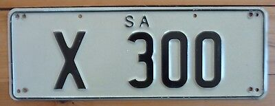South Australia  car number plate X 300