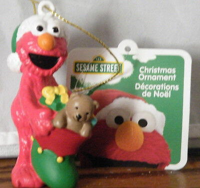 Sesame Street - Elmo W/stocking Christmas Ornament - Nwt - 2016