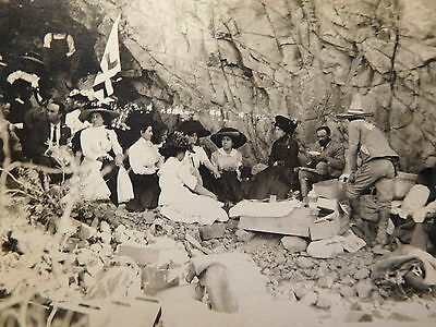 "1910's Mexican Revolution RPPC-""MADERO'S CAMP"" Red Cross Camp-Mexican Army-Cave"