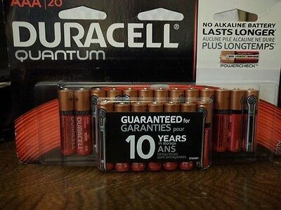 DURACELL QUANTUM AAA BATTERIES 20 Pack Battery - Expiration Date 12/2025