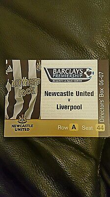 Newcastle v liverpool reserve ticket 06/07