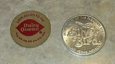 Dairy Queen token and 1 free play for the Silver Bird in Las Vegas -  l