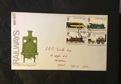 13 August 1975 Railways Post Office First Day Cover