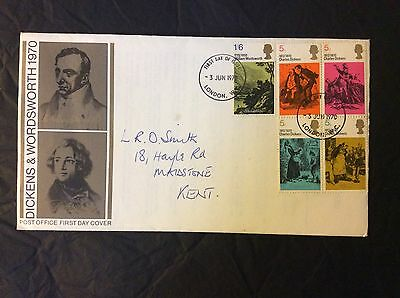 FDC - G.B. 1970 Dickens & Wordsworth - First Day Cover
