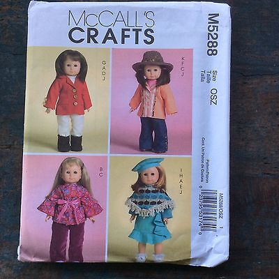 "18"" American Girl Doll-Like Uncut English/Oriental/French/Hippie Clothers patter"
