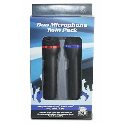 IMP Microphone Double Pack for Singstar PS3 & PS4 Brand New