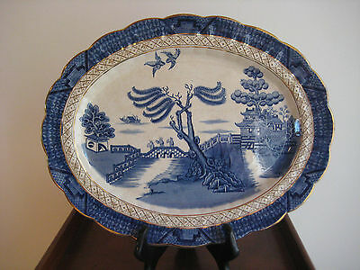 Booths Real Old Willow Platter  Gold Version  Pattern # 9072