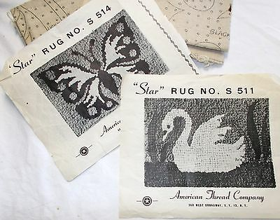 """Butterfly & Swan Rug Foundations by American Thread Company Size 24 x 36"""""""
