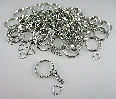 50 Pcs. Metal Split Keychain Ring Parts - Craft supplies - Chain Keyrings
